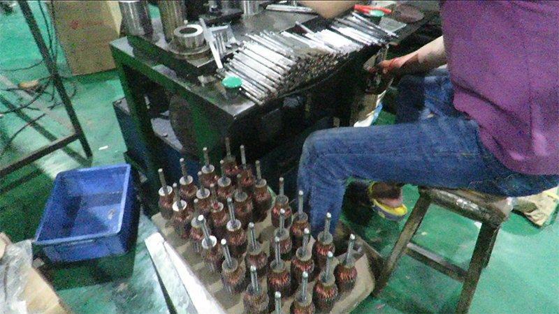rotor production _1 shaft into rotor stator